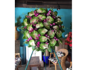 Rainbow Anthurium Wreath in Honolulu, Hawaii, Stanley Ito Florist