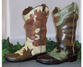 Cowboy Boot Vase in Fort Worth TX, Greenwood Florist & Gifts