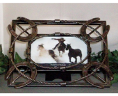 Western Metal Horseshoe Picture Frame in Fort Worth TX, Greenwood Florist & Gifts