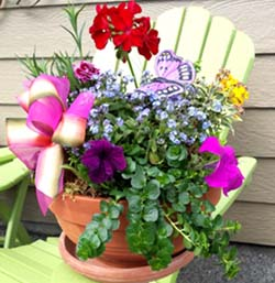Happy Wishes Planter in Kennewick WA, Heritage Home Accents & Floral