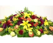 Jewel tone casket spray in London ON, Posno Flowers