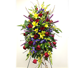 Jewel Tone Standing Spray in London ON, Posno Flowers