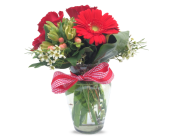 Buer's Red Hot Mama Bouquet in Anacortes WA, Buer's Floral & Vintage