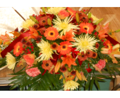 Casket spray in Quincy, Pennsylvania, B & H Lawn Service & Floral