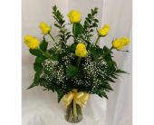 Half Dozen Yellow Roses in Grand Rapids MN, Shaw Florists