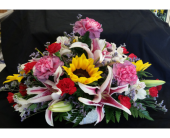 MTF800 Mixed Spring Long And Low Arrangement in Mililani Town HI, Mililani Town Florist