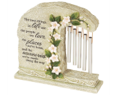 """Cleveland Flowers - Peaceful Reflections Garden Chime """"Memories"""" - Mayfield Floral"""