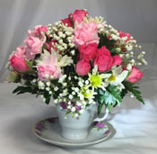 TEACUP BLOOMS by Rubrums in Ossining NY, Rubrums Florist Ltd.