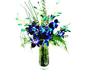 FF158  Waves of Blue Orchid Bouquet in Oklahoma City OK, Array of Flowers & Gifts
