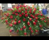 Red Rose Casket Spray in Orange Beach, Alabama, Flowers By The Shore