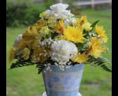 Winchester Flowers - Baby Boy Arrangement - Flowers By Snellings