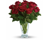 Rose Classique - Dozen Red Roses in Tillsonburg ON, Margarets Fernlea Flowers & Gifts