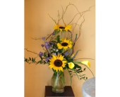 New Berlin Flowers - Sunflower Vase - Barb's Green House Florist