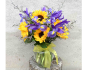 IRIS & SUNFLOWERS by Rubrums in Ossining NY, Rubrums Florist Ltd.