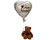 Anniversary Bear & Balloon in Bound Brook NJ, America's Florist & Gifts