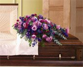 Flowers & Foliage Casket Cover in Bound Brook NJ, America's Florist & Gifts