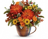 Teleflora's Autumn Sunrise Bouquet in Edmonton AB, Petals For Less Ltd.