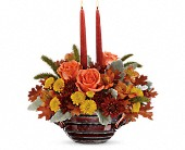 Teleflora's Celebrate Fall Centerpiece in Edmonton AB, Petals For Less Ltd.