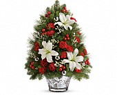 Teleflora's Festive Trimmings Tree in Greensboro NC, Botanica Flowers and Gifts