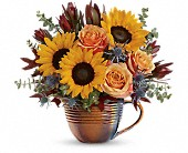 Teleflora's Golden Gratitude Bouquet in Edmonton AB, Petals For Less Ltd.