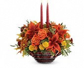 Teleflora's Rich And Wondrous Centerpiece in Charlotte NC, Starclaire House Of Flowers Florist