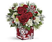 Teleflora's Silver Christmas Bouquet in Port St Lucie FL, Flowers By Susan