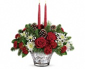 Teleflora's Sparkling Star Centerpiece in Greensboro NC, Botanica Flowers and Gifts