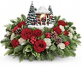 Milwaukee Flowers - Thomas Kinkade's Jolly Santa Bouquet - Bank Of Memories & Flowers