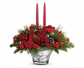 Teleflora's All That Glitters Centerpiece in Greensboro NC, Botanica Flowers and Gifts