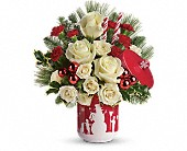 Teleflora's Falling Snow Bouquet in Bernville PA, The Nosegay Florist