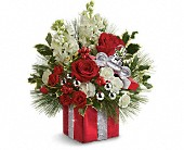 Teleflora's Wrapped In Joy Bouquet in Greensboro NC, Botanica Flowers and Gifts