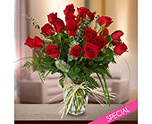 Special - Two Dozen Roses in Vase in Dallas TX, In Bloom Flowers, Gifts and More