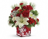Teleflora's Snowflake Wonder Bouquet in Monroe MI, North Monroe Floral Boutique
