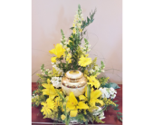 Memorial Floral for Urn in Nashville, Tennessee, Flowers By Louis Hody