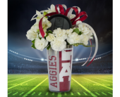 Gig 'Em Tumbler in Dallas TX, In Bloom Flowers, Gifts and More