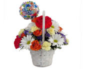 Happy Birthday Basket Bouquet in Southfield MI, Thrifty Florist