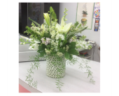 Sweet serene all white  in Buffalo Grove IL, Blooming Grove Flowers & Gifts