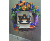 The Silk Auburn University Wreath in Huntsville AL, Albert's Flowers