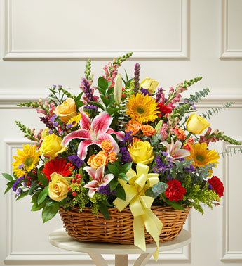 Bright Flower Sympathy Basket in Perrysburg & Toledo OH  OH, Ken's Flower Shops
