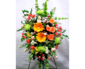 Standing Spray Orange /Green in Belleville ON, Live, Love and Laugh Flowers, Antiques and Gifts