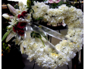 White Heart Wreath in Belleville ON, Live, Love and Laugh Flowers, Antiques and Gifts