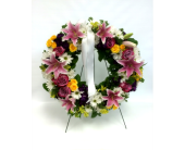 Lily Wreath in Belleville ON, Live, Love and Laugh Flowers, Antiques and Gifts