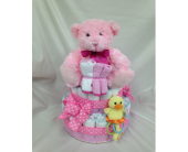 Diaper Cake Girl in Brandon MB, Carolyn's Floral Designs