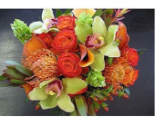 AUTUMN GLOW BOUQUET in Bellevue WA, CITY FLOWERS, INC.