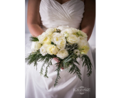 Winter Wedding Bouquet in State College, Pennsylvania, Woodrings Floral Gardens