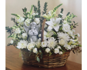 Angel in Basket in Brownsburg IN, Queen Anne's Lace Flowers & Gifts
