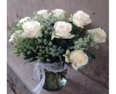 Classic White Roses in Boulder CO, Boulder Blooms
