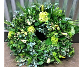 Shades of Green Wreath in Boulder CO, Boulder Blooms
