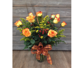 Crackling Fire Rose Arrangement in Smyrna GA, Floral Creations Florist