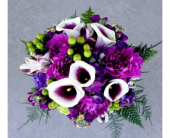 Purple Calla & Dahlia Bouquet in Schofield, Wisconsin, Krueger Floral and Gifts
